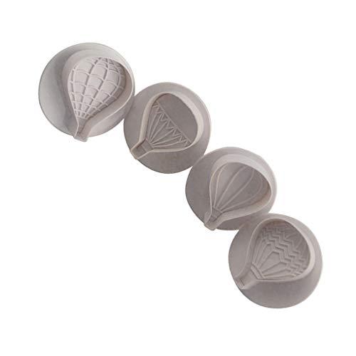 Globo aerostático plástico 4pcs Pastel Globo patrón de Corte del Molde del Molde moldes fijados de la Torta de la hornada Cortadores Herramientas