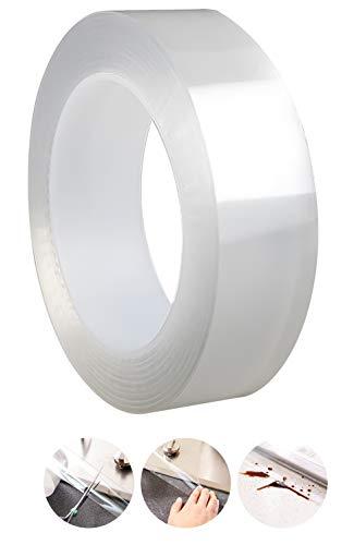 RICISUNG 防カビテープ のり残らず 台所コーナーテープ 隙間テープ 補修テープ 繰り返し 防水 防油 防カビ 汚れ防止 強力 強粘着 透明 洗濯可能 多機能 台所 キッチン バスルーム 浴槽まわり ベランダ 洗面台用など (0.5mmx30mmx5