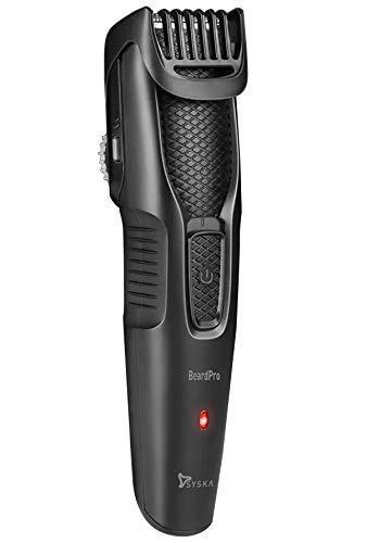 Syska HT200 PRO BeardPro Cordless Rechargeable Trimmer - 10 Length Settings; 45 min Runtime (Black)