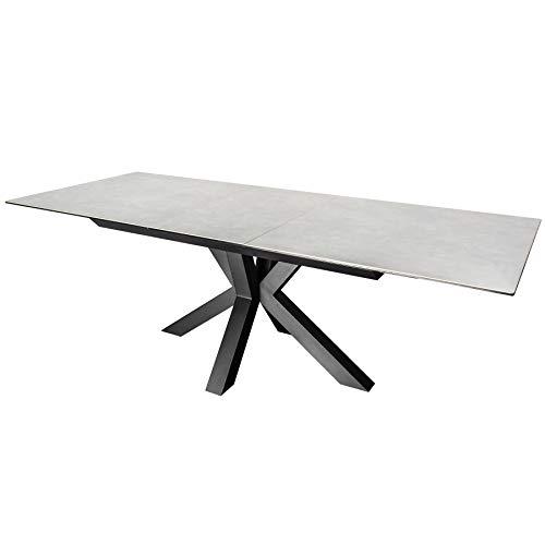 Invicta Interior Moderner Keramik Esstisch Eternity 180-225cm Beton-Optik ausziehbar Konferenztisch Küchentisch Tisch