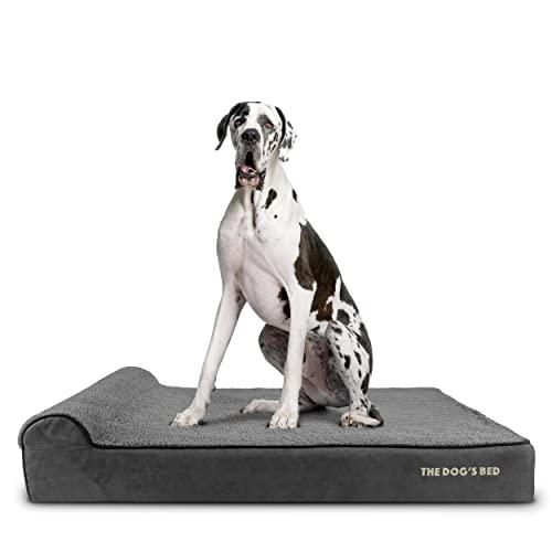 The Dog's Bed Orthopädisches Hundebett XXL Grau Plüsch 137x91x15cm Premium Wasserdicht...