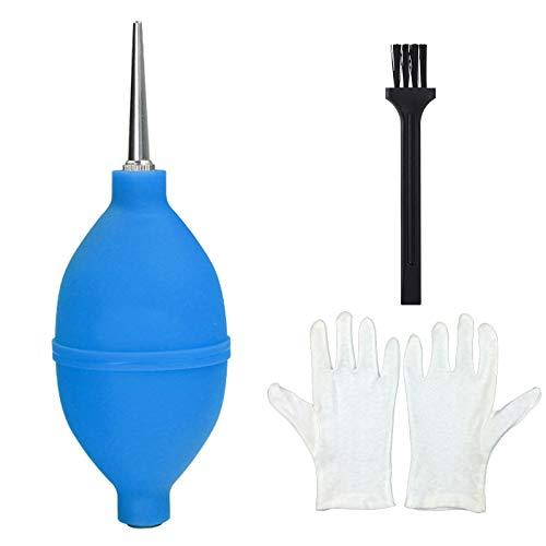 Nucyky Luftgebläse, Mit Einstellbarer Metalldüse, saubere Gebläse für Objektiv, Blasebalg Dust Blower für Kamera, Sensor, DSLR-Kamera, Tastatur, Optik usw. Reinigung Empfindlicher Oberflächen (Blau)