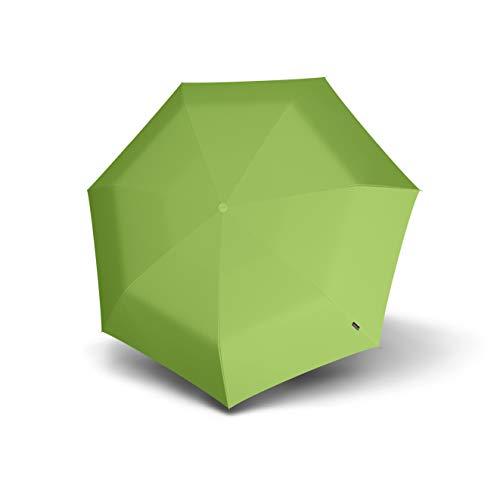 Knirps 806 Floyd Duomatic Regenschirm, kompakt, leicht, Winddicht, 8 Streben, 86 cm, automatisches Öffnen/Schließen mit 95% UV-Schutz, Grün (Grün) - 806-270