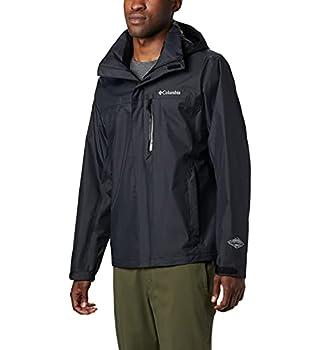 Columbia Men s Pouration Waterproof Rain Jacket Black Large