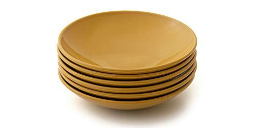 Jogo com 6 pratos fundos, Curry, Coleção Especiarias, Acervo Panelinha