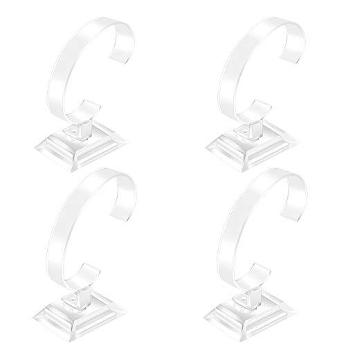 Acryl Uhrenhalter 4 Stück Uhrenständer Ausstellungsstand Halter Armbanduhr Ständer Schmuck Armband Display Uhrenpräsentation für Damen und Herren