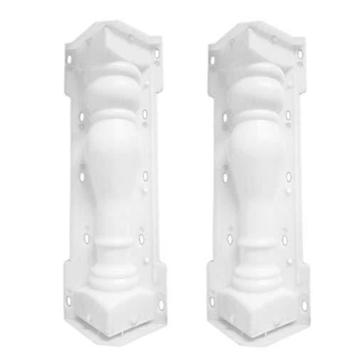 Kamenda - Molde para balcón (60 x 14 cm), diseño de columna romana