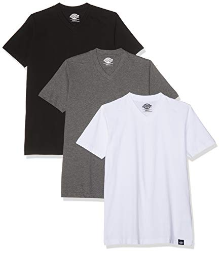 Dickies T-shirt Streetwear à col en V pour homme Multicolore Couleurs assorties Small