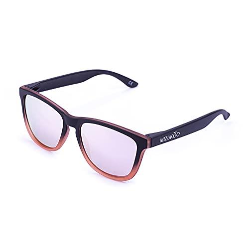 MIZUKOO Gafas de Sol Polarizadas Modelo AKIRA Black Degraded Pink
