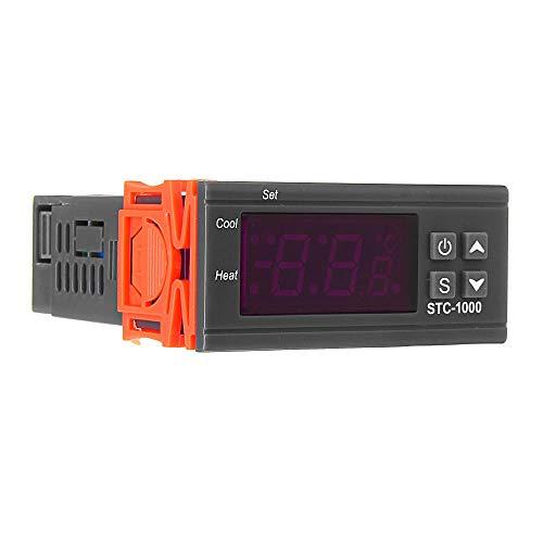 110V / 220V / 12V / 24V 10A 2 Salida de relé LED Controlador de Temperatura Digital Intublador de termostato con Calentador de sensores y Enfriador STC-1000 (Color : DC24V)