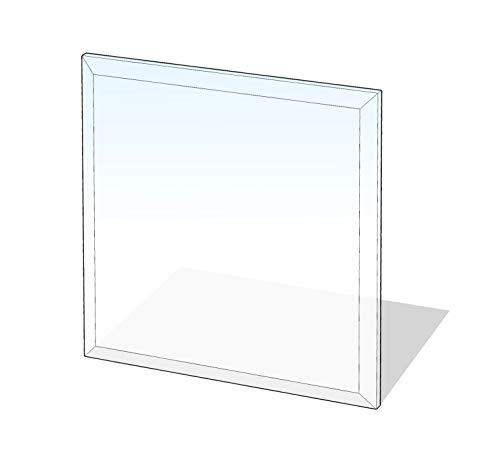 Glasbodenplatte Quadrat mit Facette
