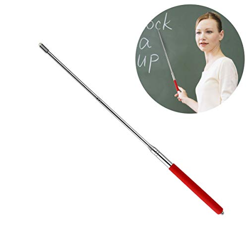 Tinksky Telescopic Teachers Pointer,Teaching Pointer,Hand Pointer Extendable Telescopic Retractable Pointer Handheld Presenter Classroom Whiteboard Pointer (Red)