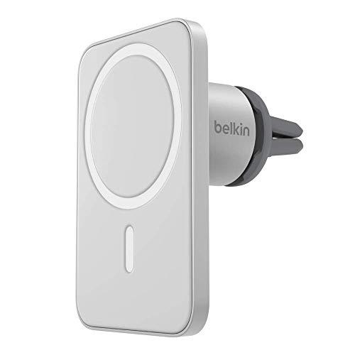 Belkin - Soporte para Rejilla de ventilación de Coche Pro con MagSafe para iPhone 12 y iPhone 12 Pro (Fija magnéticamente en el Soporte Cualquier Modelo de iPhone 12 Mientras conduces)