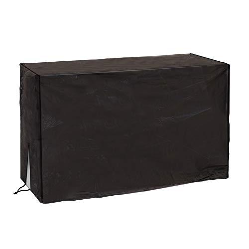 LOLAhome Ldk Garden Funda para Aire Acondicionado de PVC Reforzado 90 X 30 X 55 cm, Negro, 90x30x55 cm