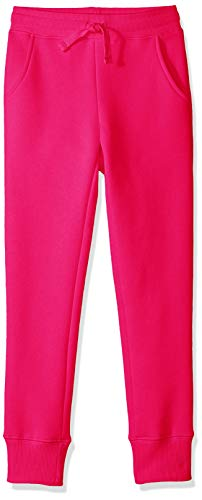 Amazon Essentials Girl's Fleece Jogger, Raspberry Sorbet 4T