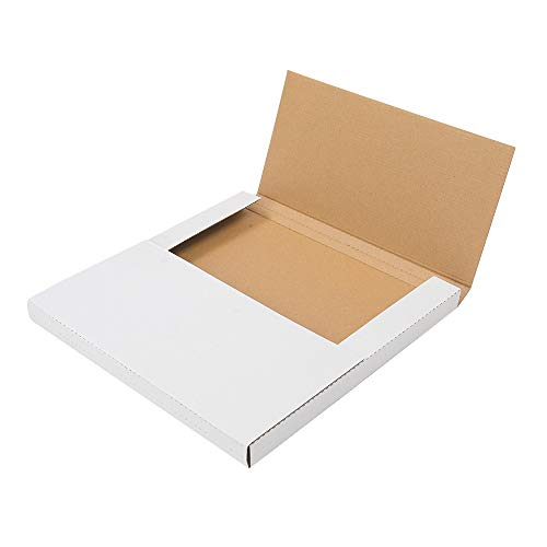 Vinyl Record Mailers (12.5 X 12.5)Inches, Adjustable Height Vinyl Record Boxes, LP Mailer Boxes, Album Paper Box for Shipping (White-25 Pack)