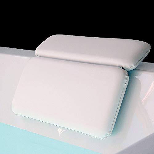 MINGZE Cuscino per Bagno termale Completo, Cuscino di Bagno per Vasca da Bagno, Jacuzzi, Spa e Idromassaggio - Impermeabile - Realizzato con Un Tessuto Morbido, Cuscino per Vasca da Bagno con Ventose