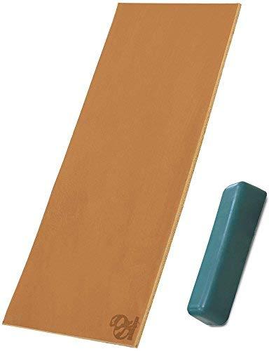 BeaverCraft LS2P1 Schärfset -Set: POLIERPASTE + 75 x 200 mm doppelseitig LEDERRIEMEN Schärfen Holzschnitzwerkzeuge Holzschnitzschärfer Streichriemen mit Messerabziehpasten