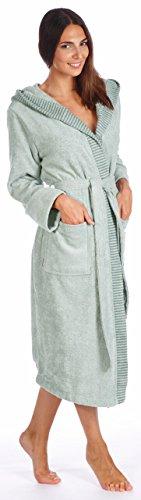 Egeria badjas met capuchon Benny | Dames 21 Gravel - XL