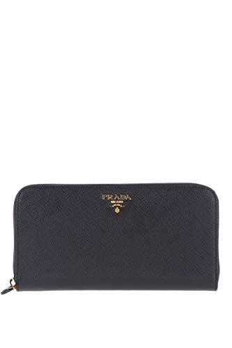 Prada Luxury Fashion Damen 1ML506QWAF0002 Schwarz Leder Brieftaschen | Jahreszeit Permanent