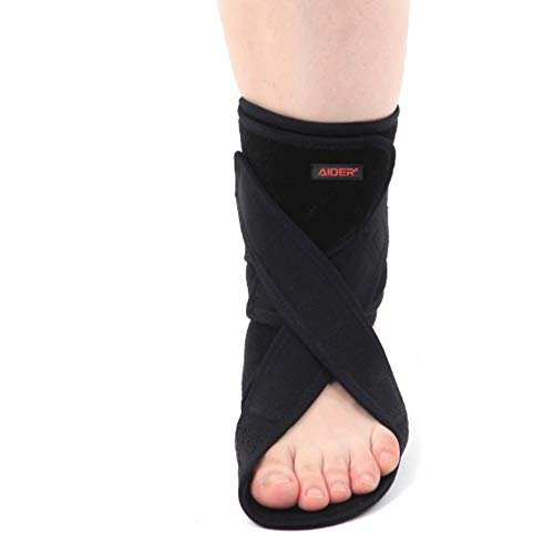 Aider Drop Foot Brace Type 3 Sport Wear Band Straps Support Care (Left)