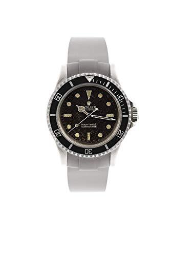 Everest - Eh-2, cinturino per orologi Rolex in gomma grigia vulcanizzata, 100% realizzato in Svizzera
