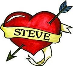 Steve Heart Temporary Tattoo