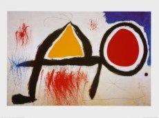 Art-Galerie Kunstdruck/Poster Joan Miro - Personnage Devant le Soleil - 80.0 x 60.0cm - Premiumqualität - Made IN Germany SHOPde