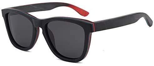 Squash bril UV400 Grijsheid zonnebril mannen en vrouwen Skateboard Hout gepolariseerde zonnebril Handmade Outdoor bril