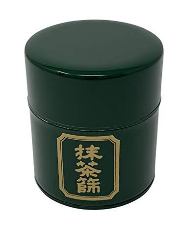 DOCTOR KING Autentico organizador de te japones Matcha con tamiz de matcha integrado, acero inoxidable, reutilizable, respetuoso con el medio ambiente, verde metalico y dorado, fabricado en Japon
