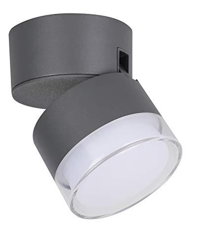 LED-Außenwandleuchte DROPSI, Aluguss anthrazit, RGB + CCT, Smart + RC kompatibel Wand UND DECKENLEUCHTE DROPSI lámpara de pared, antracita, 11,6x9,4 cm