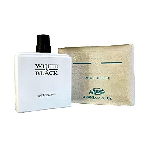 White & Black by Momentz - Eau de Toilette Intense 100 ml | Profumo Uomo Equivalente (Creed Aventus)