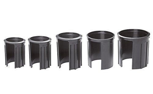 Doppler 6 cm Granitsockel-Reduzierringe Innendurchmesser 25, 32, 38, 48 und 52 mm, schwarz Adapter