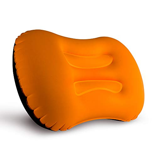 Camping Pillow, LERMX Inflating Travel Pillow, Compressible/Compact/Ergonomic Pillow for Neck & Lumbar Support and a Good Night Sleep While Camp, Hiking, Backpacking