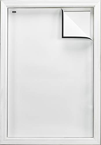 """Blackout EZ - Total Sunlight Blocking Window Cover - Complete Light Block for: Living and TV Room, Nursery, Home Theatre, Small - Customizable to (36"""" x 48"""") White in/White Out - Made in USA"""