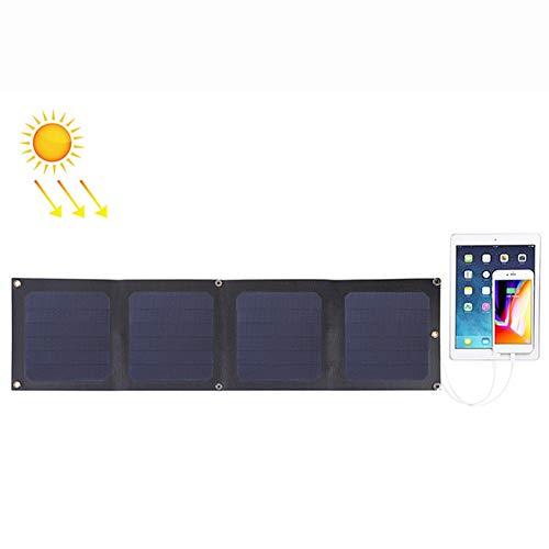 WNTHBJ 14W zonnepaneel, 4 platen 5 V 2.1AMax Dual-Port USB, USB outdoor-noodsolar-oplaadplaat, mobiele stroomvoorziening, familie reis (PC 1)
