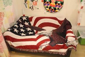 RAQ katoenen gebreide bank deken draad bank deken slapende tapijten zacht bed plaid huisdecoratie tapijt 180x220CM