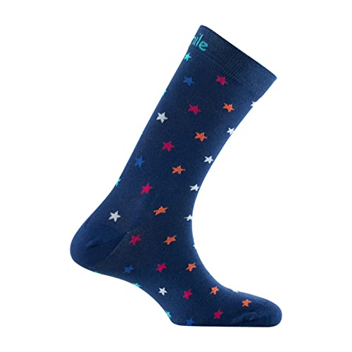 ACHILE - Calcetines STARS de algodón - Color - Azul - Talla - 39-46