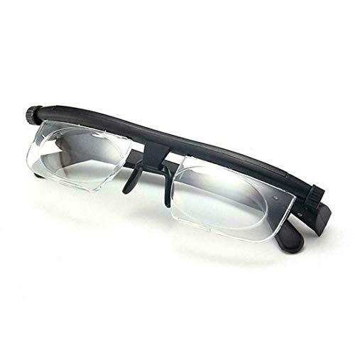 Einstellbare Brille Mit Variablem Fokus, Verstellbare Brille Zifferblatt 1 Bis 3n Brille Mit Variablem Fokus, Einstellbare Lesebrille Mit Fokus Myopia-Brille (1 pcs)