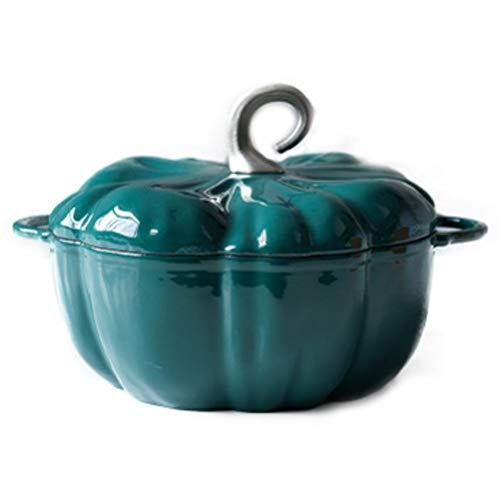 ZNBJJWCP Olla de Sopa estofado Hornos holandeses Sartén esmaltada Olla de Hierro Fundido Sartén Antiadherente Cazuela de Calabaza Utensilios de Cocina Cocina de inducción Cocina