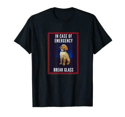 Divertido en caso de emergencia Labrador Retriever Puppy Camiseta