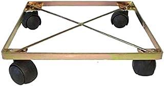 Suporte rasteiro de ferro quadrado com rodas 25 húmus fértil
