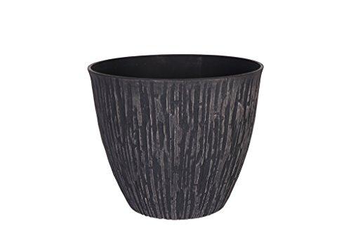 Cera-Mix Pot de Fleurs, Bac à Plante Caval, résistant au Gel et ultraléger, Noir, 36x31cm