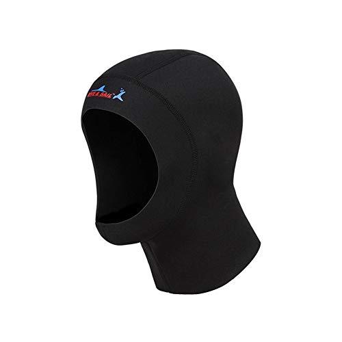 Juman634 Taucherhaube 1mm Sonnenschutz Warmer Neoprenanzug Neoprenkappe Tauchkopfbedeckung zum Surfen Schwimmen Mitte