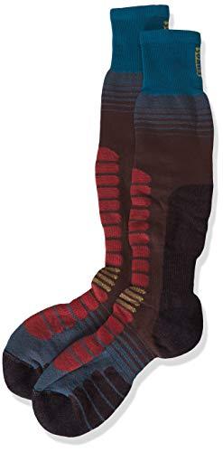 Eurosock Unisex Board Supreme Snowboarding Snowboard-Socken, Braun/Teal, X-Large