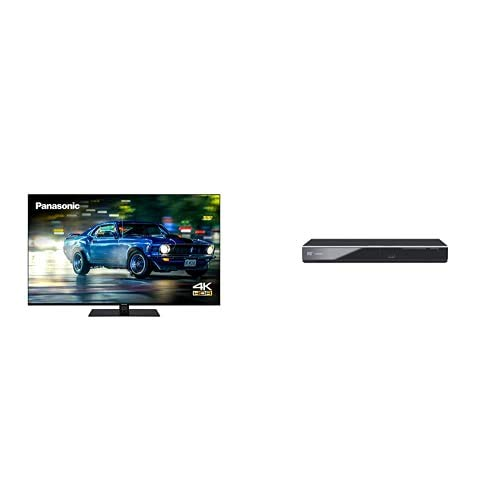 Panasonic TX-55HX600BZ 55 Inch 4K Multi HDR LED LCD Smart TV with Dolby Vision and Dolby Atmos + DVD-S700EB-K DVD Player with Multi Format Playback
