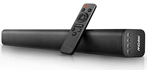 Mpow Sound Bar für Fernseher 29-Zoll 40 W 2.0-Kanal Kabelgebundene und drahtlose Bluetooth 5.0-Stereo-Heimkinosystem-TV-Lautsprecher mit 3D-Stereo-Surround, HDMI/Optisch/AUX/RCA/USB-Eingang