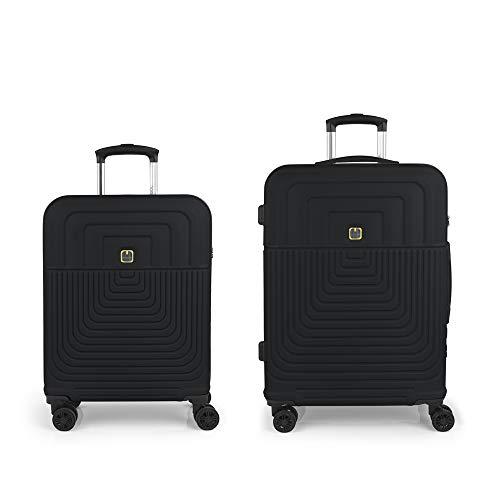 Gabol - Ego | Rigid Travel Suitcase Set with Cab Trolley and Trolley Medium Grey