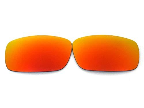 GALAXYLENSE Lentes de reemplazo para Oakley Fives Squa para hombre o mujer 52x1.5x33 mm Regular Rojo