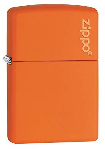 Zippo 231ZL Orange Matte Logo Pocket Lighter